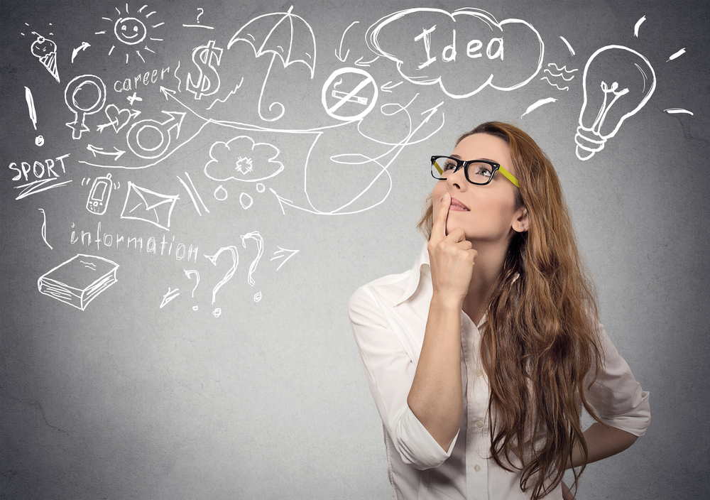 woman getting ideas for making money quickly